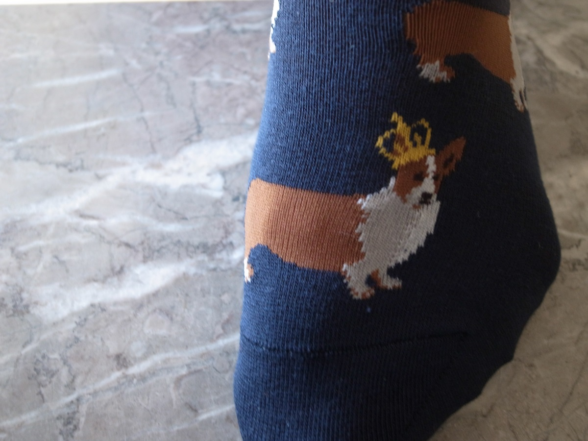 "Burlington Socken ""Happy Birthday, Queen Elisabeth II"""