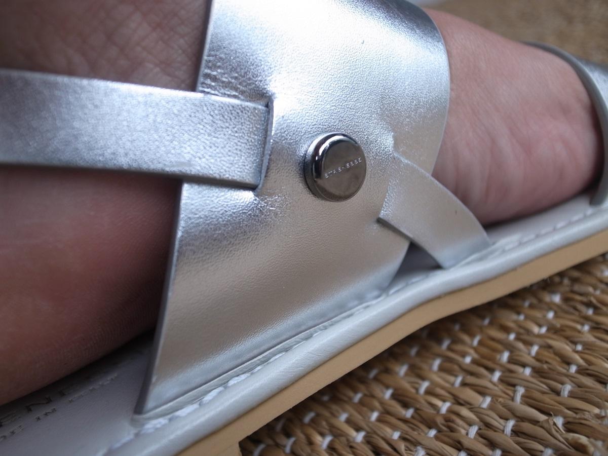 Sandalette aus Kalbsnappa von Strenesse