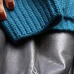 look du jour // leather meets cashmere
